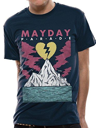 Mayday Parade Iceberg T-Shirt (blau), Blau (T-shirt Iceberg Damen)