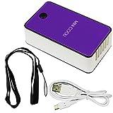 Portable USB rechargeable Mini Climatiseur Voyage de poche Ventilateur humidificateur purificateur d'air pour l'été pour enfants avec Smart stand Dragonne (Purple)