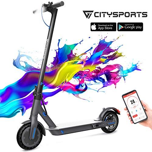Monopattino elettrico con 8,5 pneumatici, E-scooter pieghevole, Bluetooth e batteria a lungo raggio, Scooter elettrico per adulti ultraleggero,Monopattino elettrico