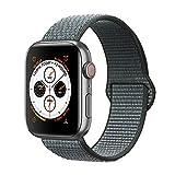 Corki pour Bracelet Apple Watch 38mm 40mm, Nylon Bracelet de Remplacement Bande pour Apple Watch iWatch Séries 4 (40mm), Séries 3/ Séries 2/ Séries 1 (38mm), Gris Orage