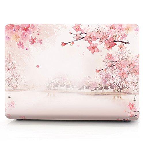 L2W MacBook Air 13 Hülle Zubehör Laptop Plastik Hartschale Tasche Schutzhülle für Apple MacBook Air 13 Zoll Modell A1466/A1369 Sakura - 1