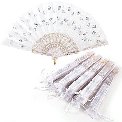 ZuverläSsig Papierfächer Handfächer Fächer Weiss Zu Malen Für Hochzeit Fest Theater Kleidung & Accessoires
