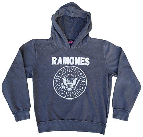 Amplified felpa uomo con cappuccio Sweater grigio Official The Ramones Rock Star Vintage Grau XL