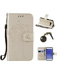PU Carcasa de silicona teléfono móvil Painted PC Case Cover Carcasa Funda De Piel Caso de Shell cubierta para smartphone Samsung Galaxy Grand Prime (G360de SM, sm-g360h, sm-g361F (4,5pulgadas) + Polvo Conector