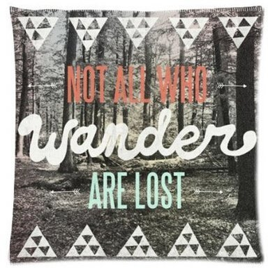 Alexander Not All Who Wander Are Lost Vintage Camouflage Camo Baum Forest Cute Muster Personalisierte Soft Kissen Bezüge, 18x18inch