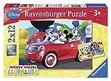 Ravensburger Puzzle–07565Kind Classic–Mickey Maus, Minnie Maus und Freunde–2x 12Teile