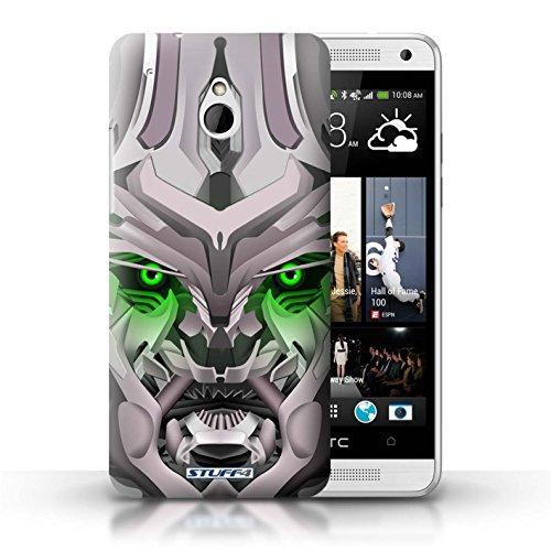 Kobalt® Imprimé Etui / Coque pour HTC One/1 Mini / Opta-Bot Rose conception / Série Robots Mega-Bot Vert
