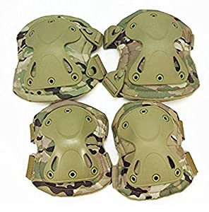 TopOutdoor Military Tactical Combat Knee & Elbow Protective Pads Skate Knee Pad by TopOutdoor