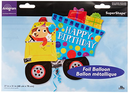 Amscan 336140131x 27Happy Birthday Dump Truck Super Shape Folienballon