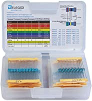 ELEGOO 17 Values 1% Resistor Kit Assortment, 0 Ohm-1M Ohm (Pack of 525) RoHS Compliant for Arduino, Respberry