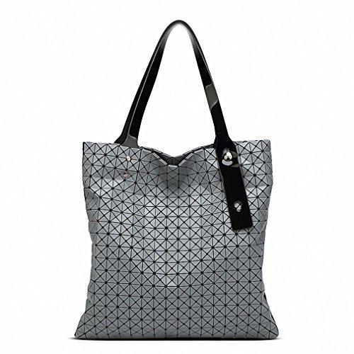 Donne borsa Diamond traliccio Tote geometria trapuntato geometrica Borsetta tracolla albicocca Gray