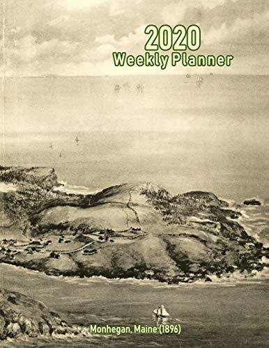 2020 Weekly Planner: Monhegan, Maine (1896): Vintage Panoramic Map Cover - 1896 Vintage-print