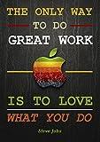 Best Arbeit Angebot–Apple–Steve Jobs 3–Inspirierende–Motivational–A3Zeichen Poster Druck Bild
