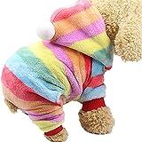 GFEU Hundemantel mit Kapuze, Baumwolle, warm, für den Winter, für kleine und mittelgroße Hunde