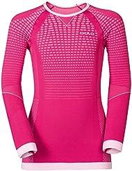 Odlo Evolution Warm T-Shirt à manches longues, rouge prune, 116/128