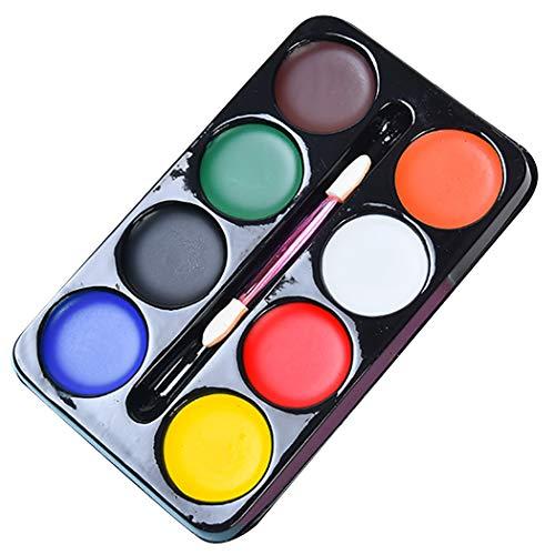 JUSTDOLIFE Face Painting Kit 8 Farben Face Paint Body Painting Kit für Karneval Halloween