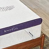 Inofia Gel Memory Foam Matrastopper Super King, 8CM stevigheid GELEX Bed Topper met Wasbare Cover, Drukontlasting | Slaapkoeler, 2 laags schuimtopper voor rust eenvoudig, 100-nacht Home Trail (180x200)