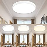 ETiME Ø50cm Dimmbar LED Deckenleuchte 40W Deckenlampe Rund Deckenleuchte mit Fernbedienung LED Panel Lampe für Wohnzimmer Badezimmer Garage Balkon Flur Küche (Weiß Dimmbar mit FB, 50cm Rund)