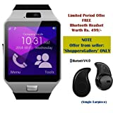 #8: SAMSUNG Galaxy Note 5 Dual Compatible Ceritfied SW Bluetooth Smart Watch Phone With Camera and Sim Card Support With Apps like Facebook and WhatsApp Touch Screen Multilanguage Android/IOS Mobile Phone Wrist Watch Phone with activity trackers and fitness band(Assorted Color) with FREE GIFT
