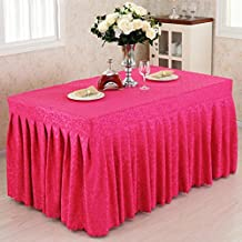 Belle nappe à la mode Fitted Table Skirt Cover Wedding Banquet With Top Topper Nappe - Rose Red Hook Flowers Home Textiles LXL-Nappes ( Couleur : Rose red , taille : 45*150*75CM )