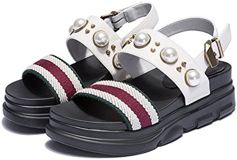 GONGFF Zapatos Planos Femeninos Con Hebilla De Fondo Plano, Zapatos De Gran Tamaño,#1,38 38|#1
