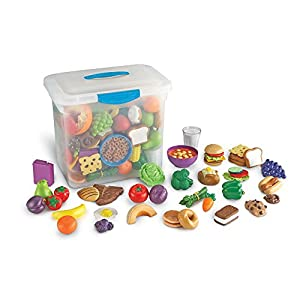 Learning Resources- Set de Comida de Juguete para el Aula New Sprouts, Color (LER9723)
