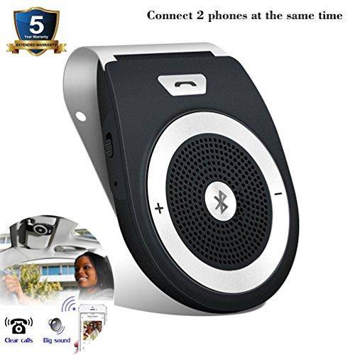 Tianshili Auto Freisprechanlage Bluetooth Visier Car Kit mit Bewegungssensor, Unterstützung für mobile Musik, GPS, kabellos zwei Mobiltelefone gleichzeitig verbinden,Drahtlose Freisprecheinrichtung Lautsprecher Bluetooth-lautsprecher Für Ihr Auto