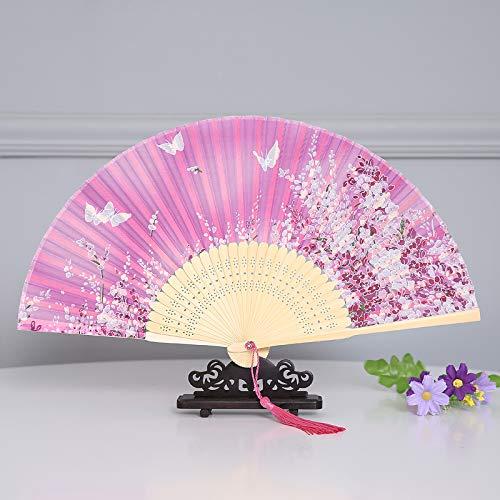 XIAOHAIZI Handfächer,Sommer Chinesischen Stil Frauen Bambus Fan