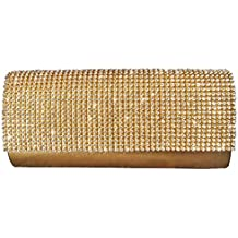 Girly HandBags Nuovo Diamante in Rilievo Pochette Duro Scatolina Sera