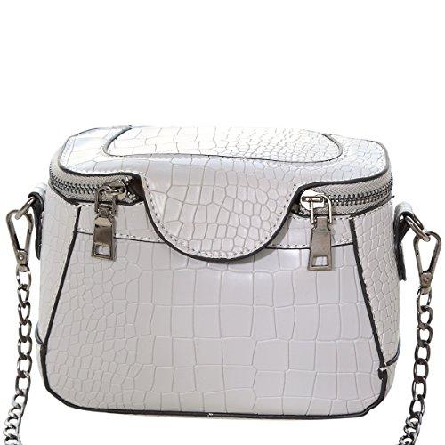 Yuanse® Borsa Messenger Donna Elegante Cerniera Design Tote (bianco)