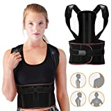 Wesho Posture Corrector, Adjustable Spine and Back Support for Men and Women Lumbar Shoulder Support Belt Strap, Improve Bad Posture, Convenient for Neck, Shoulder and Upper Back Pain Relief