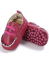 Vovotrade Primer Paso Zapatos de bebé Niña Niño Recién Nacido De Lujo Cuero Suela Suave de
