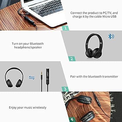 UGREEN-Bluetooth-Sender-Bluetooth-Audio-Transmitter-TV-V-42-Bluetooth-Adapter-Fernseher-mit-35mm-Klinke-A2DP-und-APTX-Keine-Verzgerung-fr-TV-Player-Spielkonsole-und-Soundsystem