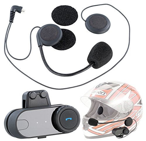 NavGear Headset Motorrad: Universal Headset für Motorradhelme mit Bluetooth (Helm Headset)