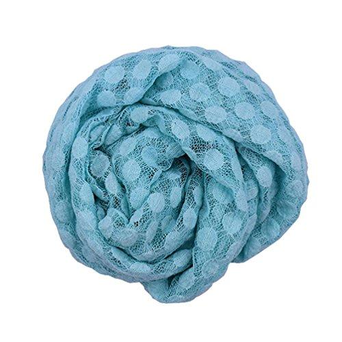 Babydecke VENMO Neugeborenes Junge Mädchen Spitze Fotografie Stützen Decke Wrap Posing Swaddle Cover (0-6 Monate) (Blue) (Stretch-knit Cover)