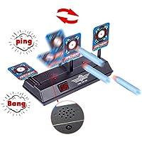 Tosbess Diana Compatible para Nerf, Disparos automáticos Target de los niños Juguete con Pantalla LCD Efecto de Sonido con luz Inteligente Compatible para Balas de Nerf Soft Juegos