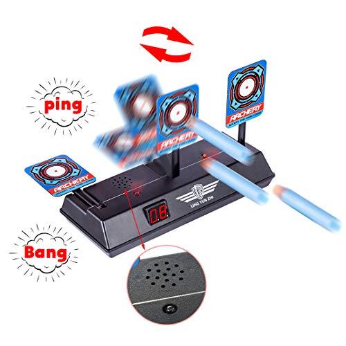 iVansa Obiettivo di Tiro per Nerf, Obiettivo Elettrico di Re-Set Automatico Bersaglio Elettronico Giochi di Tiro con Effetto Sonoro Leggero per Nerf Blaster