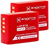 2x BAXXTAR PRO Batterie pour Fujifilm NP-W126 NP-W126s (1140mAh) pour FinePix HS30EXR HS33EX X100F X-A1 X-A2 X-A3 X-A5 X-A10 X-E1 X-E2 X-E3 X-ES2 X-H1 X-M1 X-Pro1 X-Pro2 X-T1 X-T2 X-T3 X-T10 X-T20
