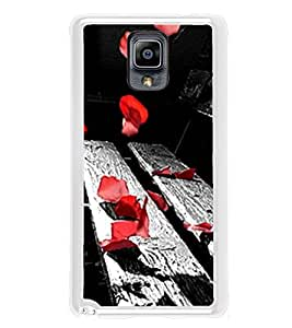 Red Petals on Bench 2D Hard Polycarbonate Designer Back Case Cover for Samsung Galaxy Note 3 :: Samsung Galaxy Note III :: Samsung Galaxy Note 3 N9002 :: Samsung Galaxy Note N9000 N9005