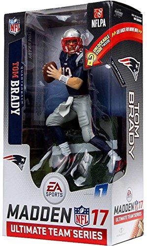 New England Patriots, Tom Brady EA Sports Madden NFL 17 Ultimate Team Figure: White Jersey Variant (Tom Brady Mcfarlane Figuren)