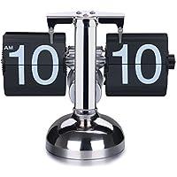 SODIAL(R) Orologio flip retro giu' - ingranaggio integrato operato
