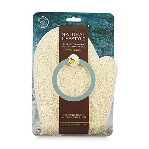 Peeling-Handschuh, aus Luffa, Sojabohnenfasern und Frottee, Massage und Reinigung des Körpers, Waschhandschuh aus Naturkosmetik, für eine glatte und reine Haut, für Männer und Frauen, vegan, 1 St. (Sauerstoff-peel)