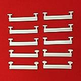 Easy-Shadow - 100 Stück Schlaufengleiter für 70 mm 70mm Schlaufen ohne Schlitz - Gleiter 7 cm 7m Innenlauf für Schlaufenschals / Schlaufenvorhang passend für Gardinenschienen Gardinenstange Vorhangschienen Gardinenbretter Gardinen Laufschienen Deckenleiste - weiß