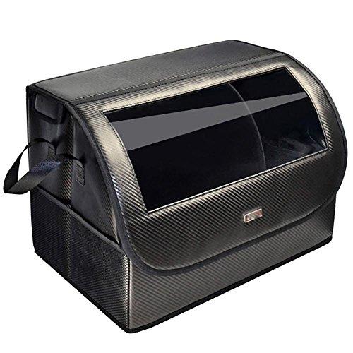 GxNI Auto Organizer Faltbare Auto Aufbewahrungsbox Kofferraum Aufbewahrungsbox Auto Schwanz Box Startseite Mehrzweck Car Supplies Finishing Box Magnetische Saug Abdeckung Beide Seiten der Tasche Schwarz