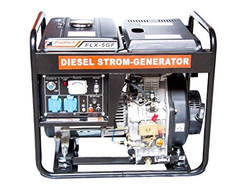 Diesel Stromerzeuger mit 4,8 kW Dauerleistung und Elektrostarter. -