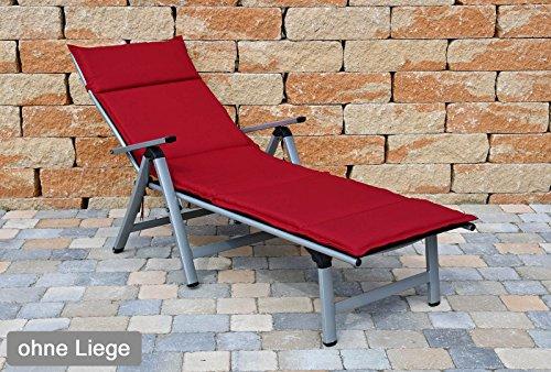 Auflagen für Liegen Sun Garden Dessin Neckarsulm 50234-301 in rot ohne Liege