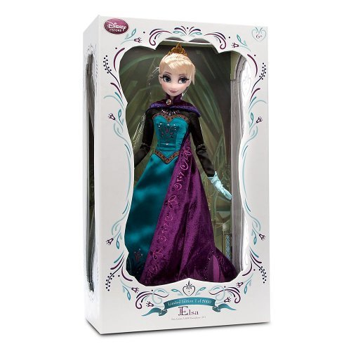 Disney Store Frozen Limited Edition Princess Elsa Coronation Doll: 17 LE 5000 by Disney (Princess Coronation Disney)