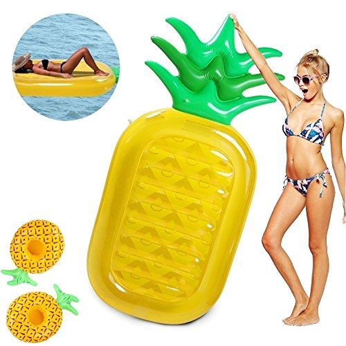 wanxing Ananas Luftmatratze Pool Ananas Aufblasbar 188 CM Aufblasbare Riesige Schlauchboot für Erwachsene & Kinder Stunden Spielzeug Schwimmen und Spaß(188cm*79cm)