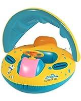 Arshiner Gonflable bébé flotteur Anneau de natation voiture Bouée siège gonflable avec parasoil pour bébés