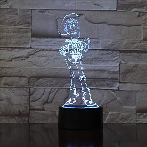 Toy Story-Illusionsnachtlichtart des Farbänderungstabellenlampengeschenkkinderspielzeugjungen